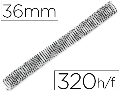 ESPIRAL METALICO Q-CONNECT 64 5:1 36MM 1,2MM CAJA DE 25 UNIDADES