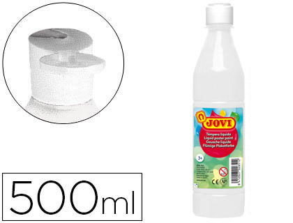 TEMPERA LIQUIDA JOVI ESCOLAR 500 ML BLANCO