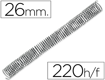 ESPIRAL METALICO Q-CONNECT 64 5:1 26MM 1,2MM CAJA DE 50 UNIDADES
