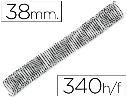 ESPIRAL METALICO Q-CONNECT 64 5:1 38MM 1,2MM CAJA DE 25 UNIDADES