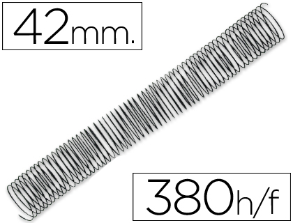 ESPIRAL METALICO Q-CONNECT 64 5:1 42MM 1,2MM CAJA DE 25 UNIDADES